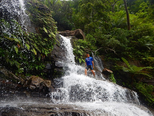 ゲーダの滝 滝の上